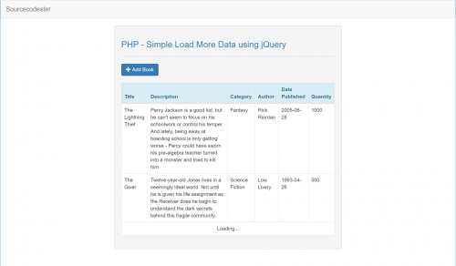 Simple Load More Data using jQuery