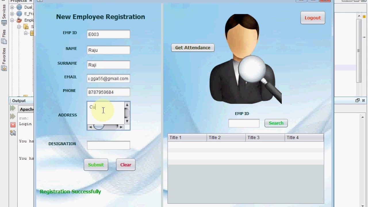 Fingerprint - Based Employee Attendance System - CodeMint Mint for Sale