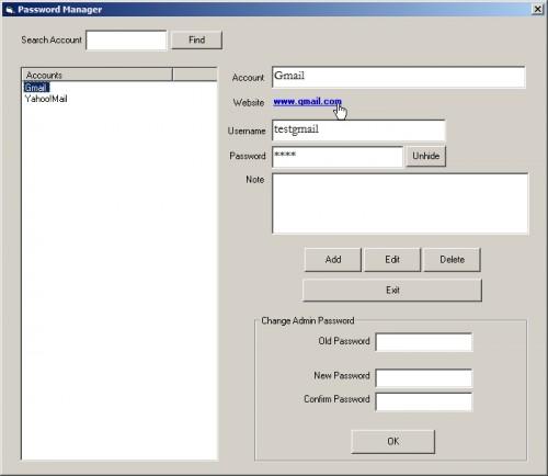 Password Management using VB