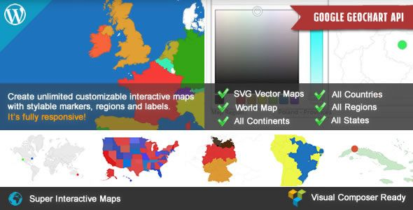 Super Interactive Maps for WordPress  - CodeMint Mint for Sale
