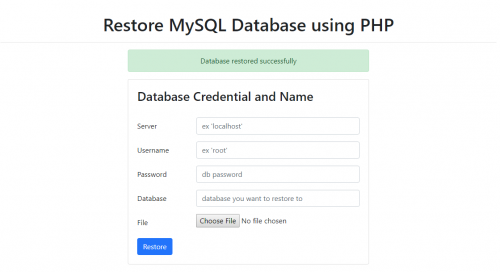 How to Restore MySQL Database using PHP - CodeMint Mint for Sale