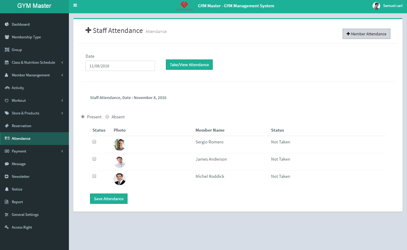 Design and Implementation of a Gym Management System