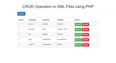 CRUD Operation in XML File using PHP with Modal - CodeMint Mint for Sale