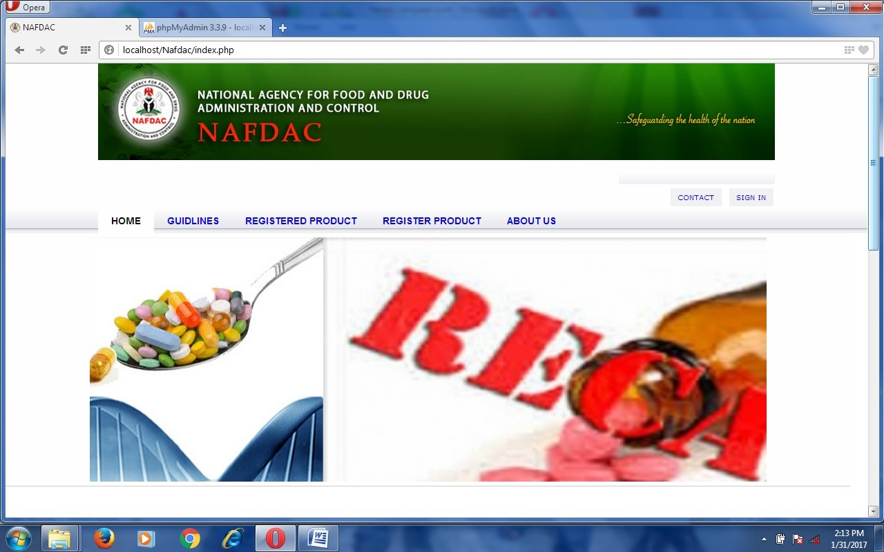 Online Product Registration and Authentication System a Case Study of NAFDAC - CodeMint Mint for Sale