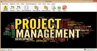 Project Management System Using C#
