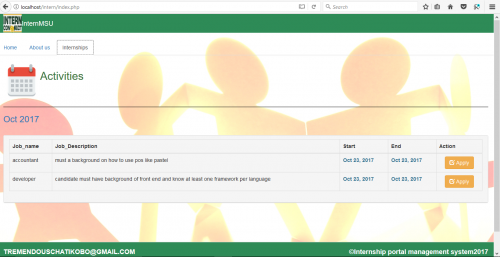 Internship Portal Management System  - CodeMint Mint for Sale