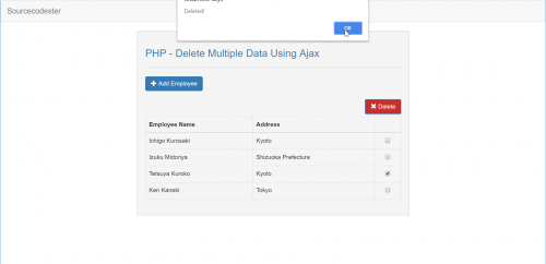 Delete Multiple Data Using Ajax