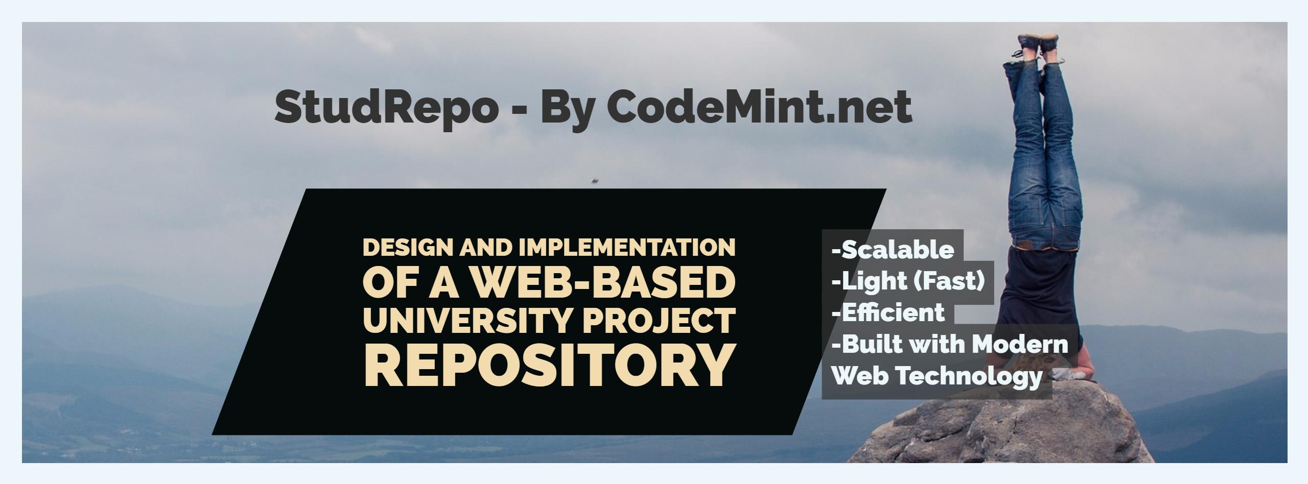 StudRepo - A Design and Implementation of a Project Repository for University Projects - CodeMint Mint for Sale