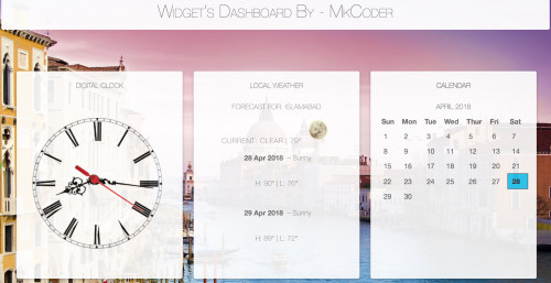 Beautiful Widget Dashboard using Javascript, Angular and CSS - CodeMint Mint for Sale