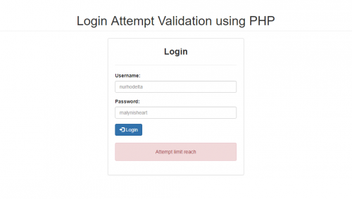 How to Create a Login Attempt Validation using PHP - CodeMint Mint for Sale