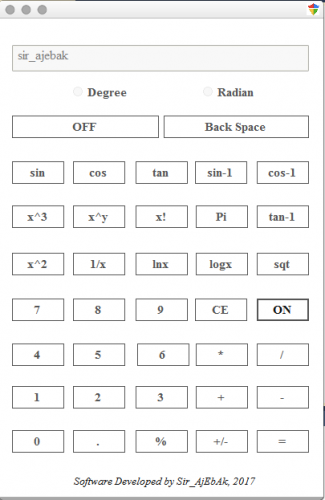 Scientific Calculator with C#