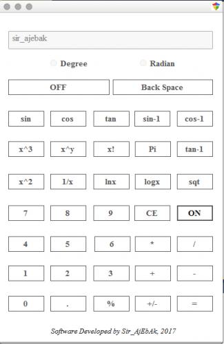Scientific Calculator with C#