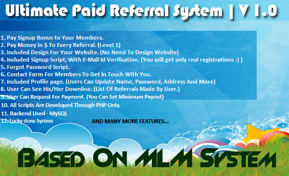 Design and Implementation of a paid referral system