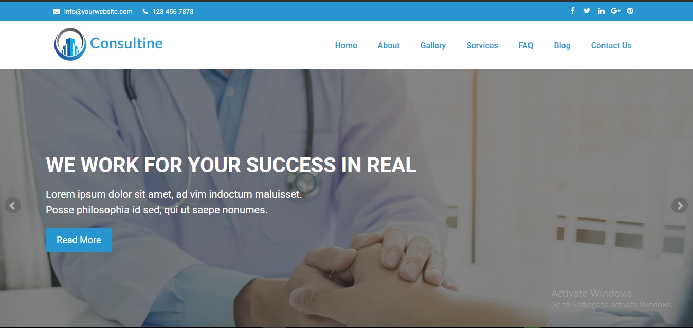 Consultine - Consulting, Business and Finance Website CMS  - CodeMint Mint for Sale