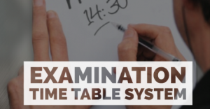 Electronic Web-based Examination Time Table System