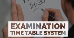 Electronic Web-based Examination Time Table System