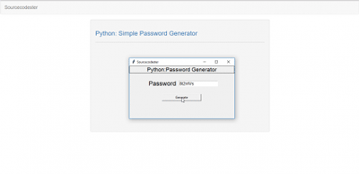 Simple Password Generator Python