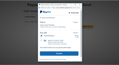 Paypal Express Client-Side Checkout
