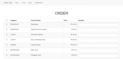 Simple Ordering APP using PHP/MySQLi - CodeMint Mint for Sale