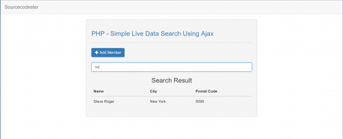 Simple Live Data Search Using Ajax - CodeMint Mint for Sale