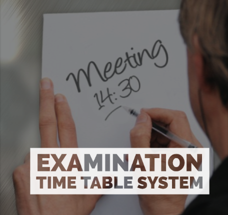 Electronic Web-based Examination Time Table System image