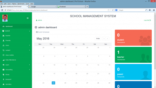 School Management System  Using PHP