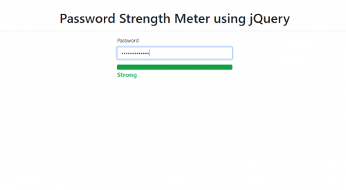 How to Create a Password Strength Meter using jQuery
