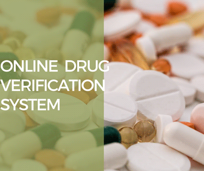 ONLINE REGISTRATION OF PHARMACEUTICAL COMPANY AND DRUG VERIFICATION SYSTEM - CodeMint Mint for Sale