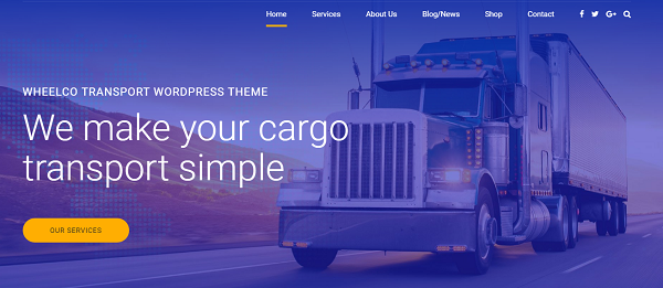 FEATURE-RICH TRANSPORT COMPANY WEBSITE