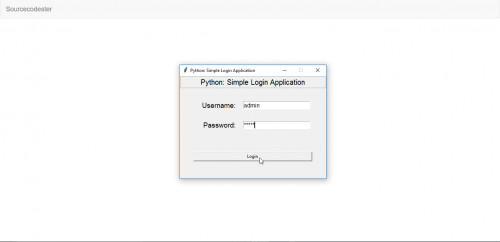 Python: Simple Login Application
